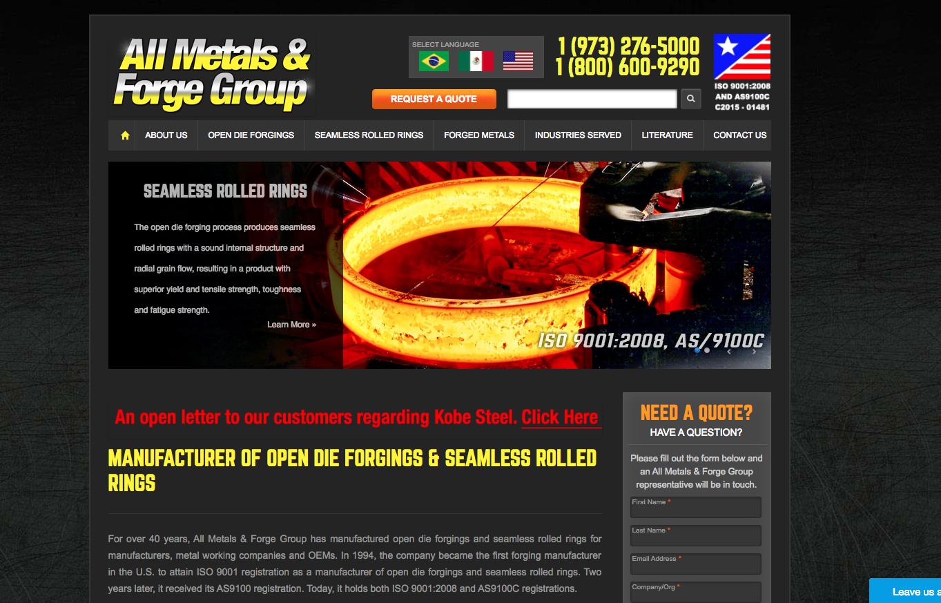 Steelforge website